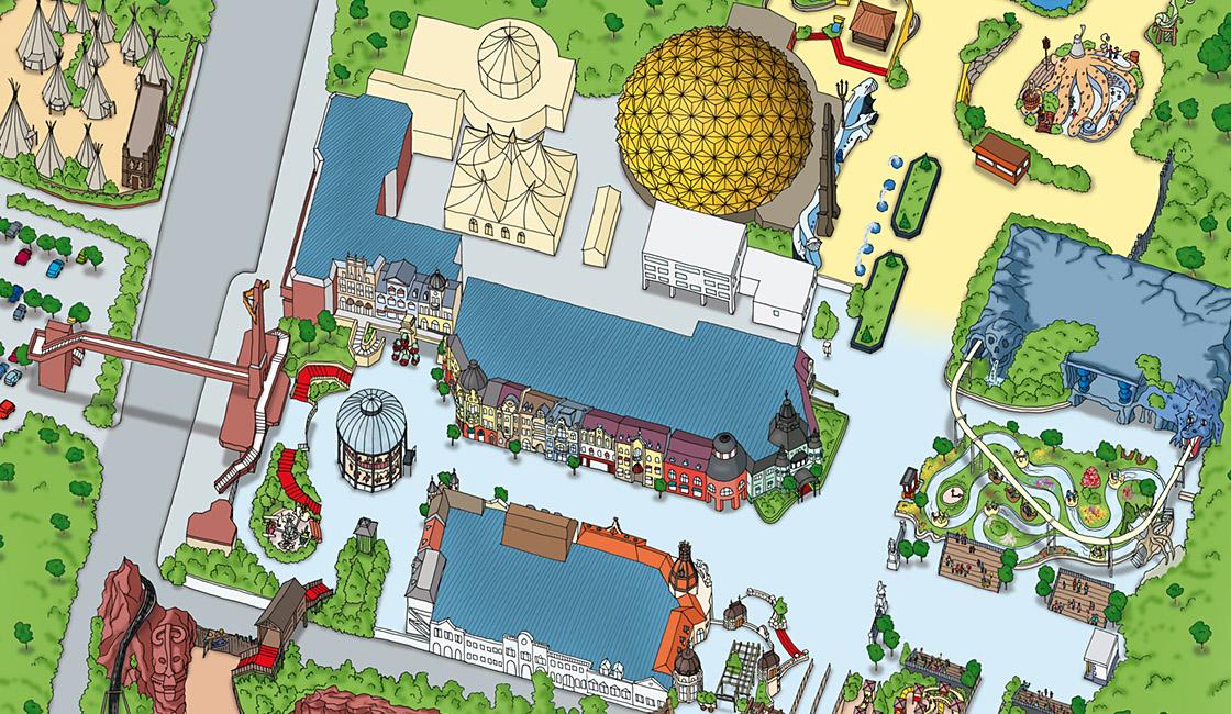 Phantasialand Parkplan 2009 Gesamt Berlin
