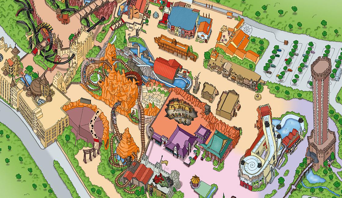 Phantasialand Parkplan 2009 unterer Bereich