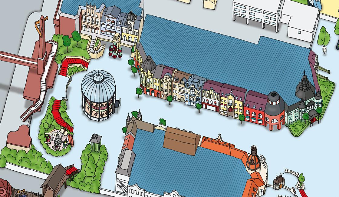 Phantasialand Parkplan 2009 Alt Berlin
