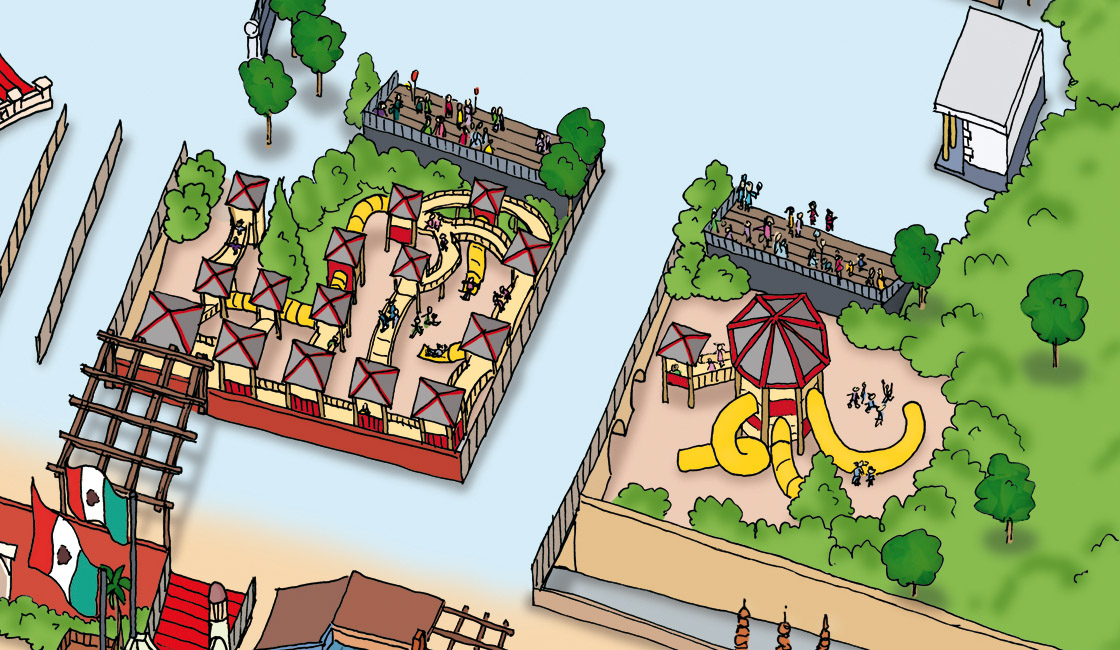 Phantasialand Parkplan 2009 Kinderspielplatz