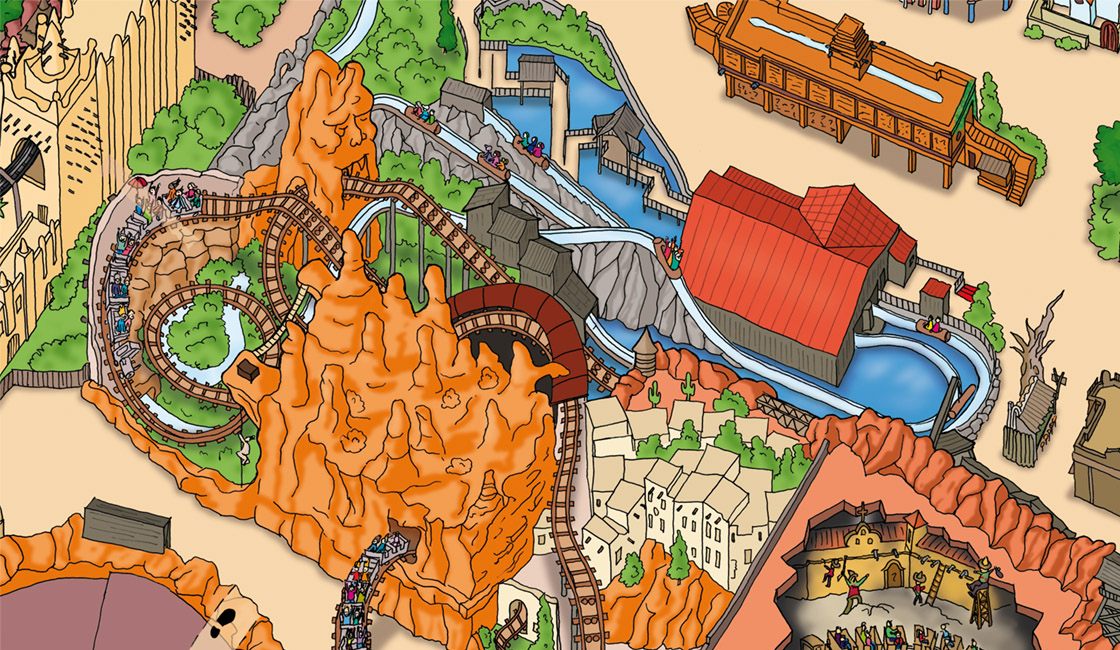 Phantasialand Parkplan 2009 Colorado Adventure