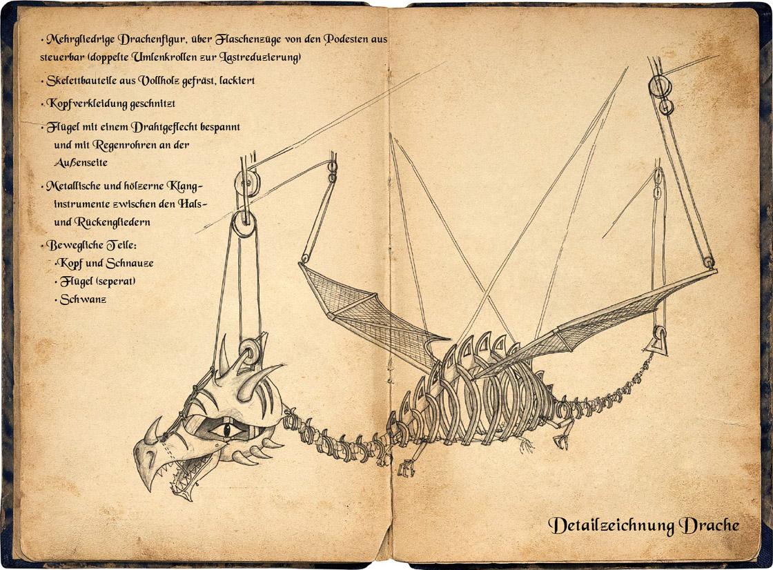 Legende des Hölzernen Drachen - der Drache