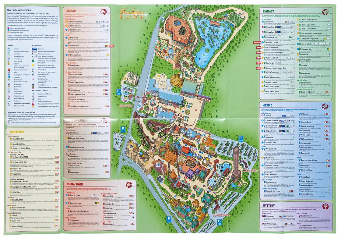 Phantasialand Park Karte.Sommer Summer 2010 Alex Korting Themed Entertainment Design