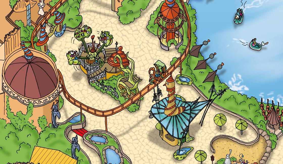 Phantasialand Parkplan Sommer 2010