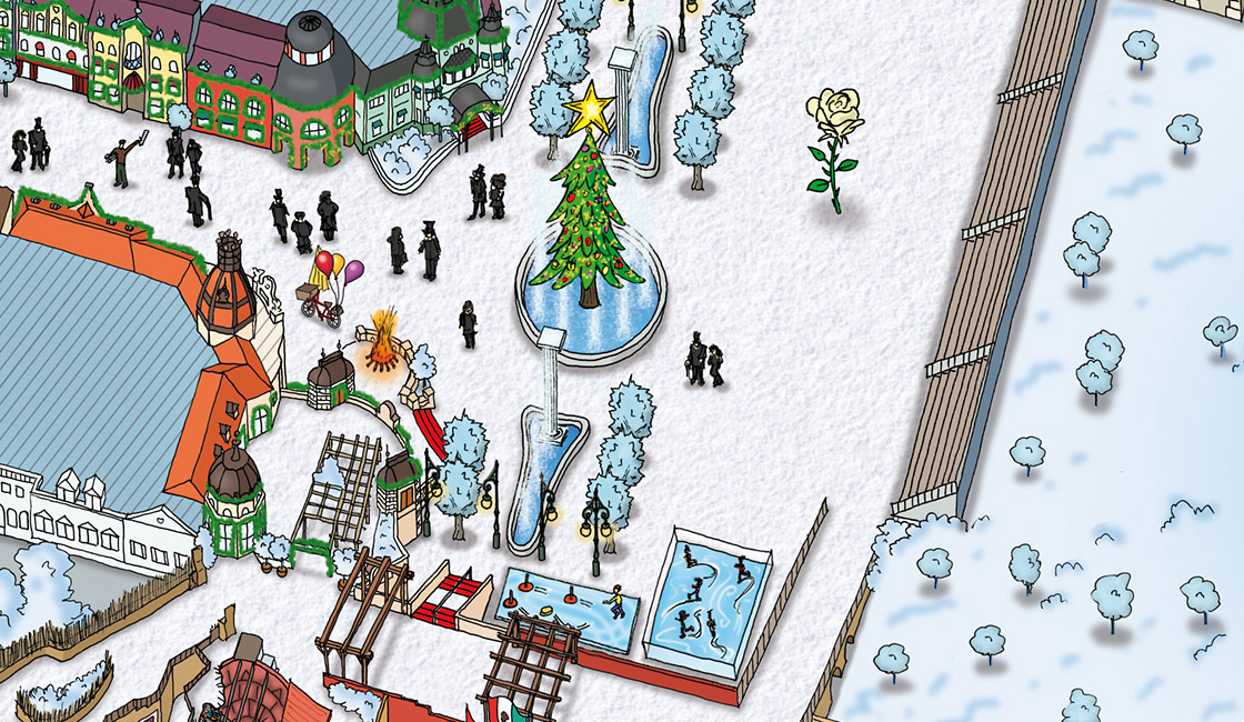 Parkplan Winter Phantasialand 2010
