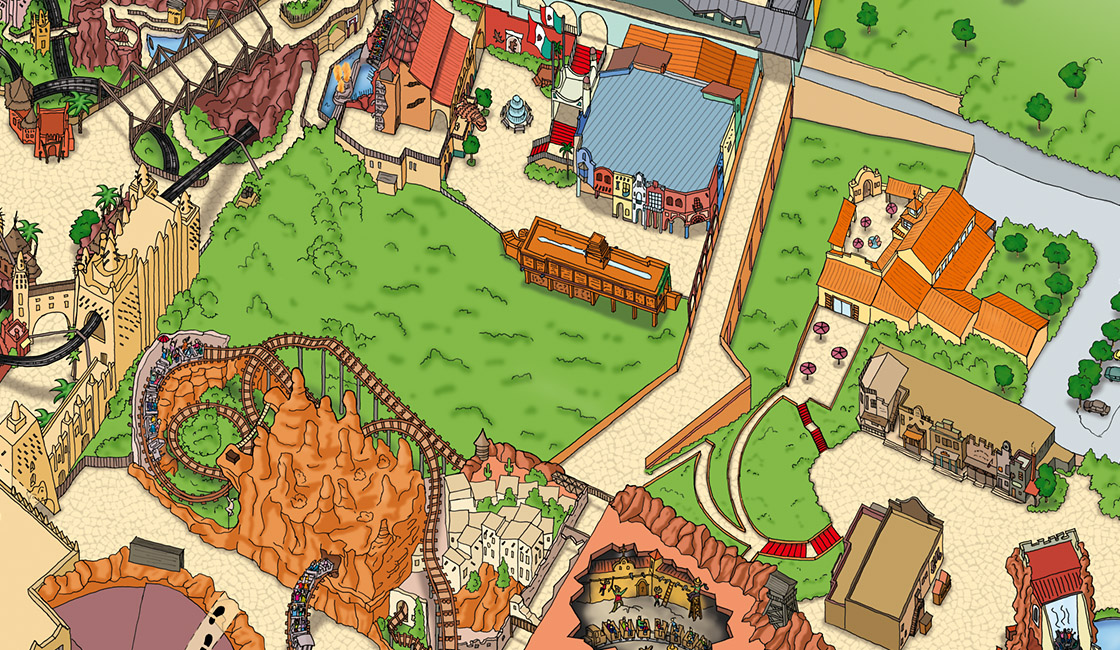 Parkplan Design Phantasialand 2012