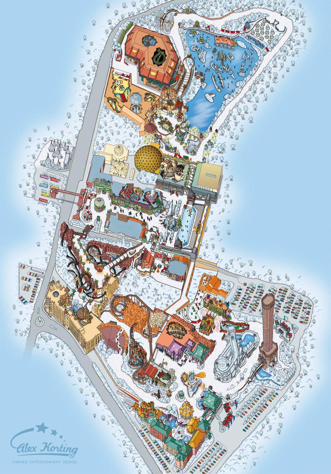 Winterparkplan Phantasialand 2012