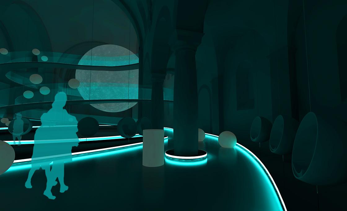 Planetarium Ausstellungsgestaltung