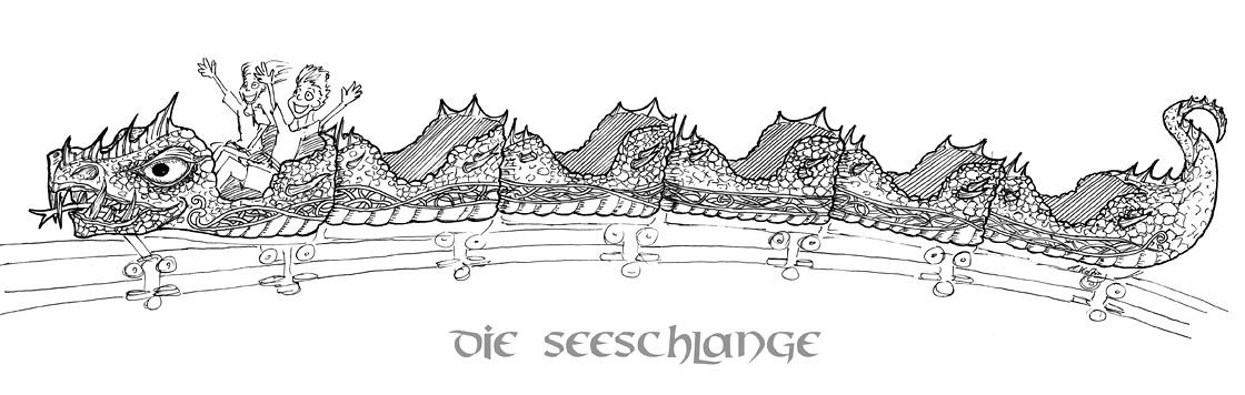 Zugdesign Schlange für Die Schlange von Midgard im Hansa Park