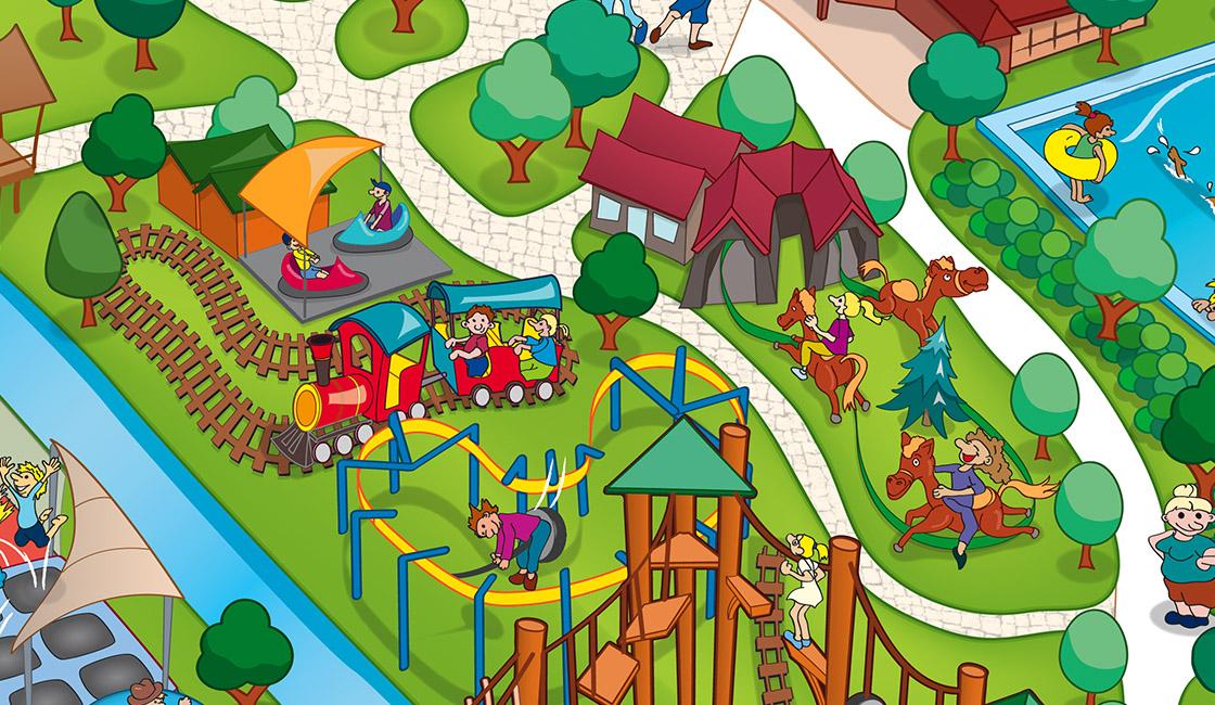Schloss Dankern Parkplan Detail