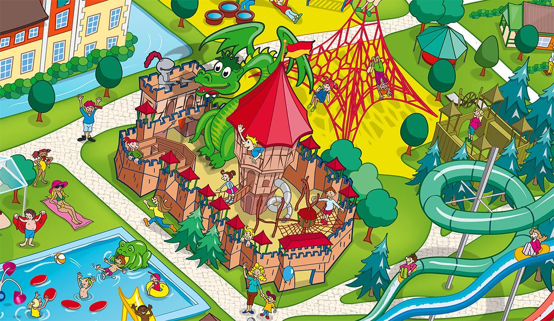 Schloss Dankern Parkplan Spielplatz