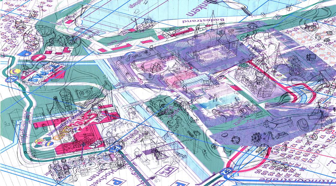 Schloss Dankern Parkplan Zeichnung