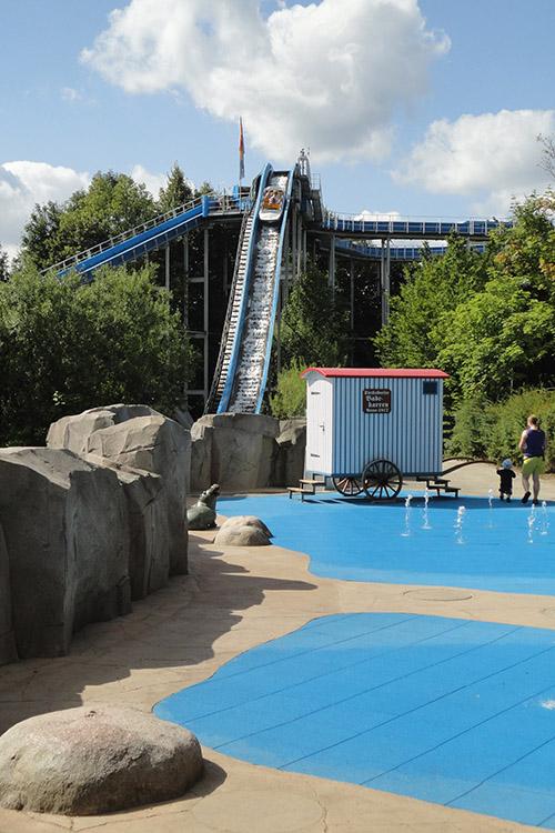 Fontänenspielplatz Wasserspielplatz Hansa Park