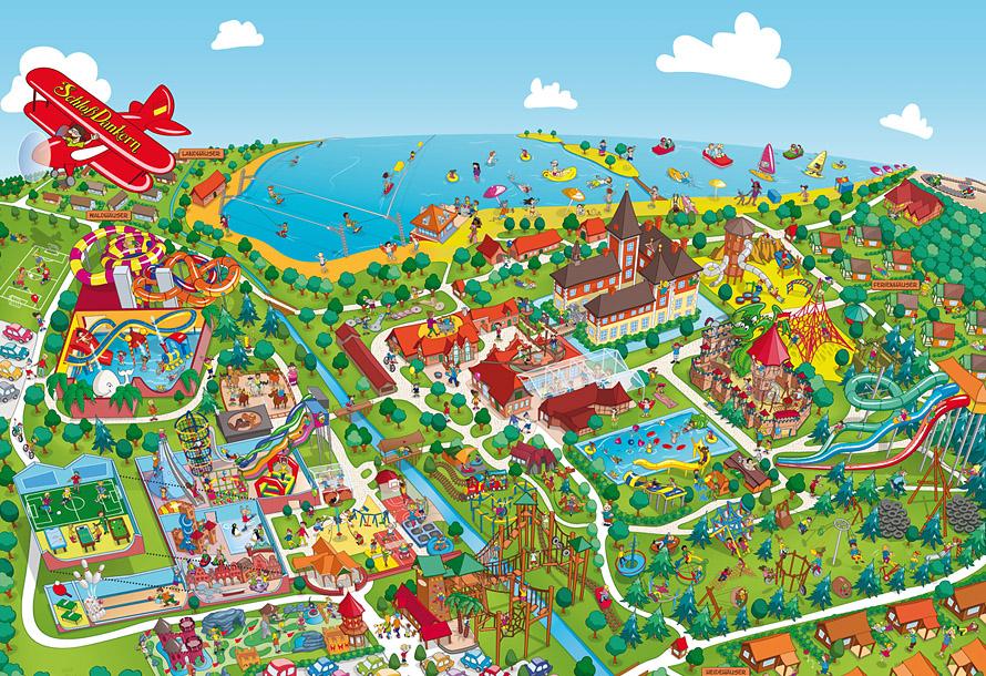 Parkplan Schloss Dankern ・ Park Map Design Schloss Dankern