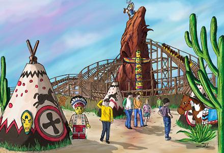 Legoland Holzachterbahn・Wooden Roller Coaster