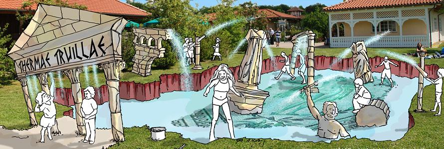 Wasserspielplatz Trulla Thermen ・ Waterplayground