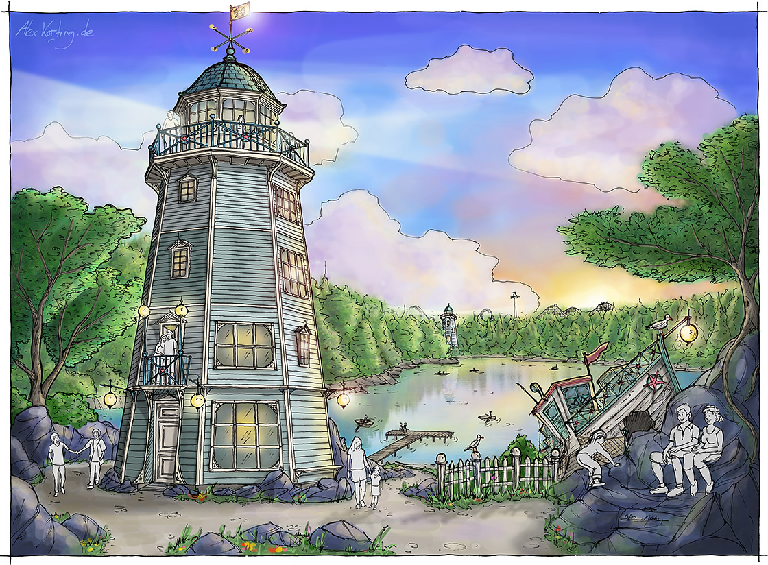 Leuchtturm Ferienhaus Design