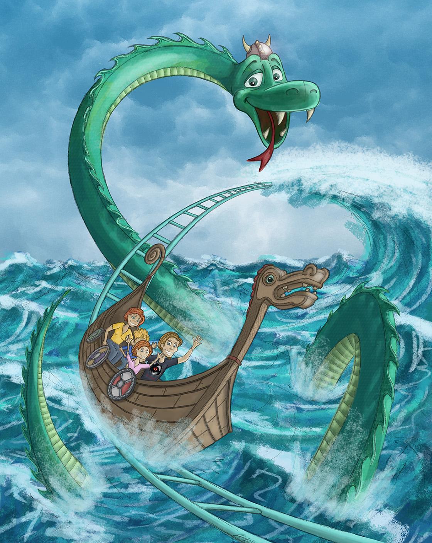 Grosses Poster für Die Schlange von Midgard im Hansa Park