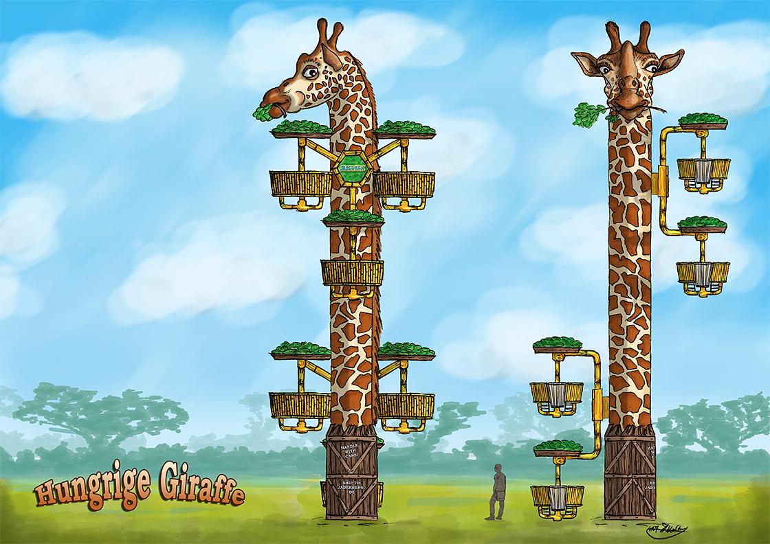 Giraffenturm Jaderpark Zeichnung