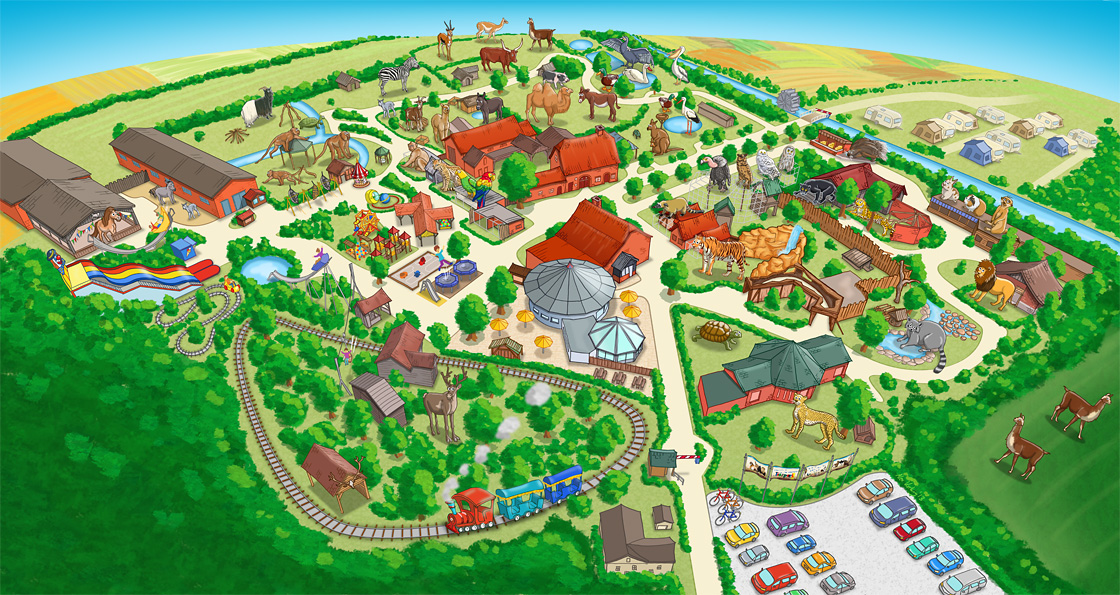 Parkplan Nadermanns Tierpark finale Version