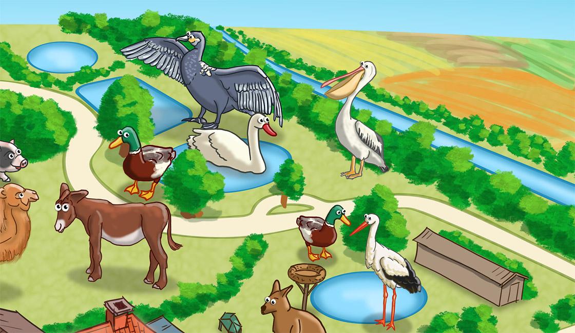 Parkplan Nadermanns Tierpark Tierteiche