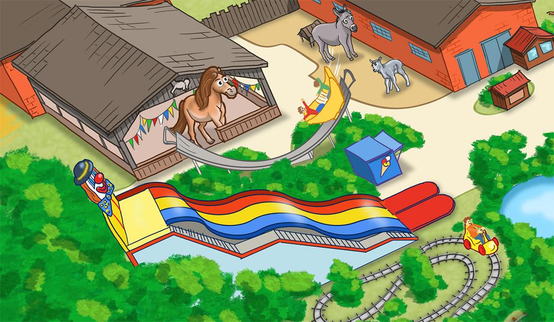 Parkplan Nadermanns Tierpark Spielplatz und Ponyreiten