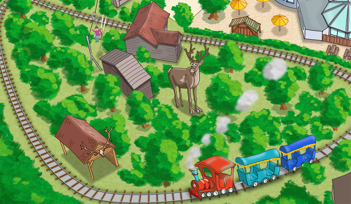 Parkplan Nadermanns Tierpark Zugfahrt