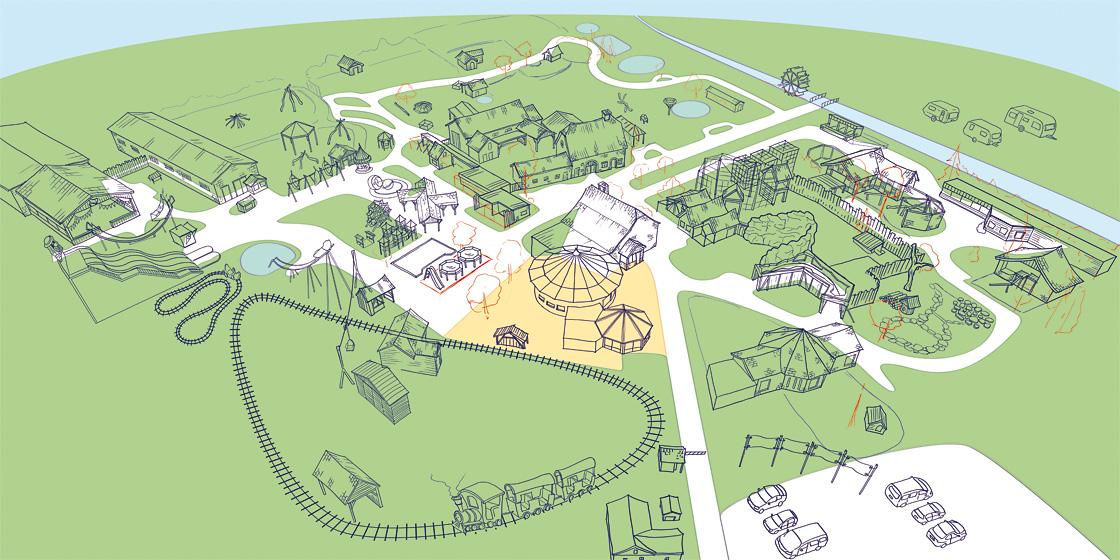 Parkplan Nadermanns Tierpark Zeichnung Parkmap