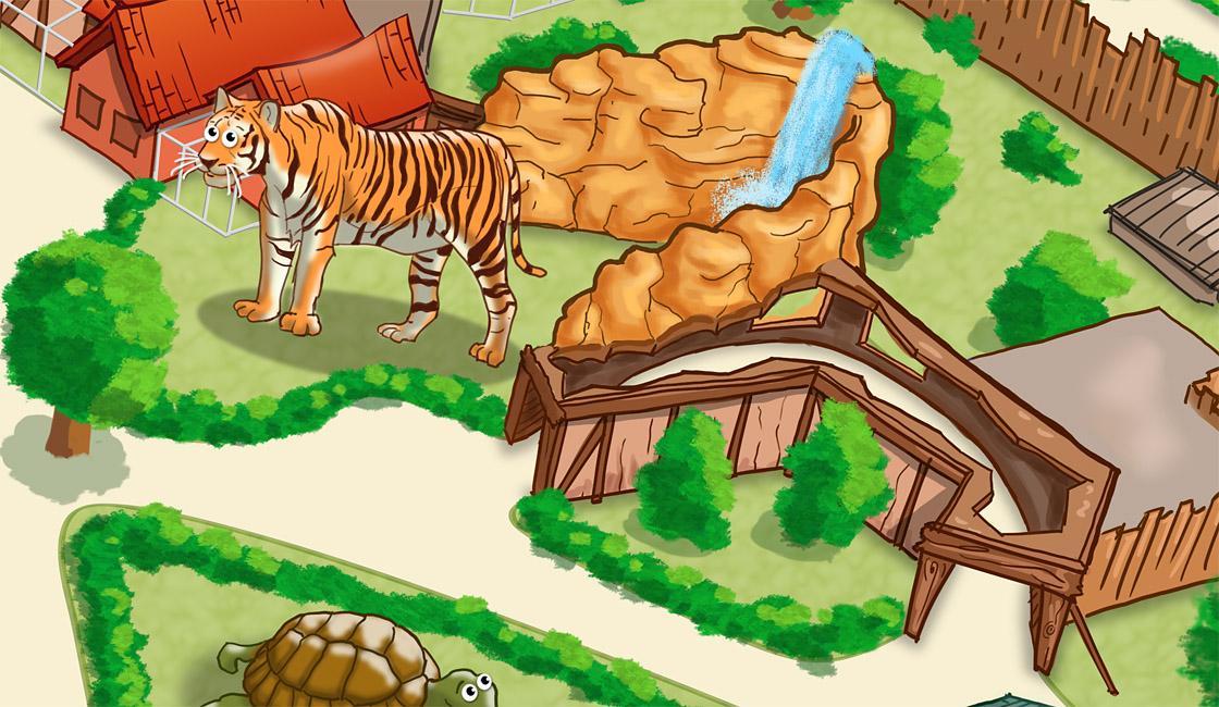 Parkplan Nadermanns Tierpark Tiger und Bärenmine