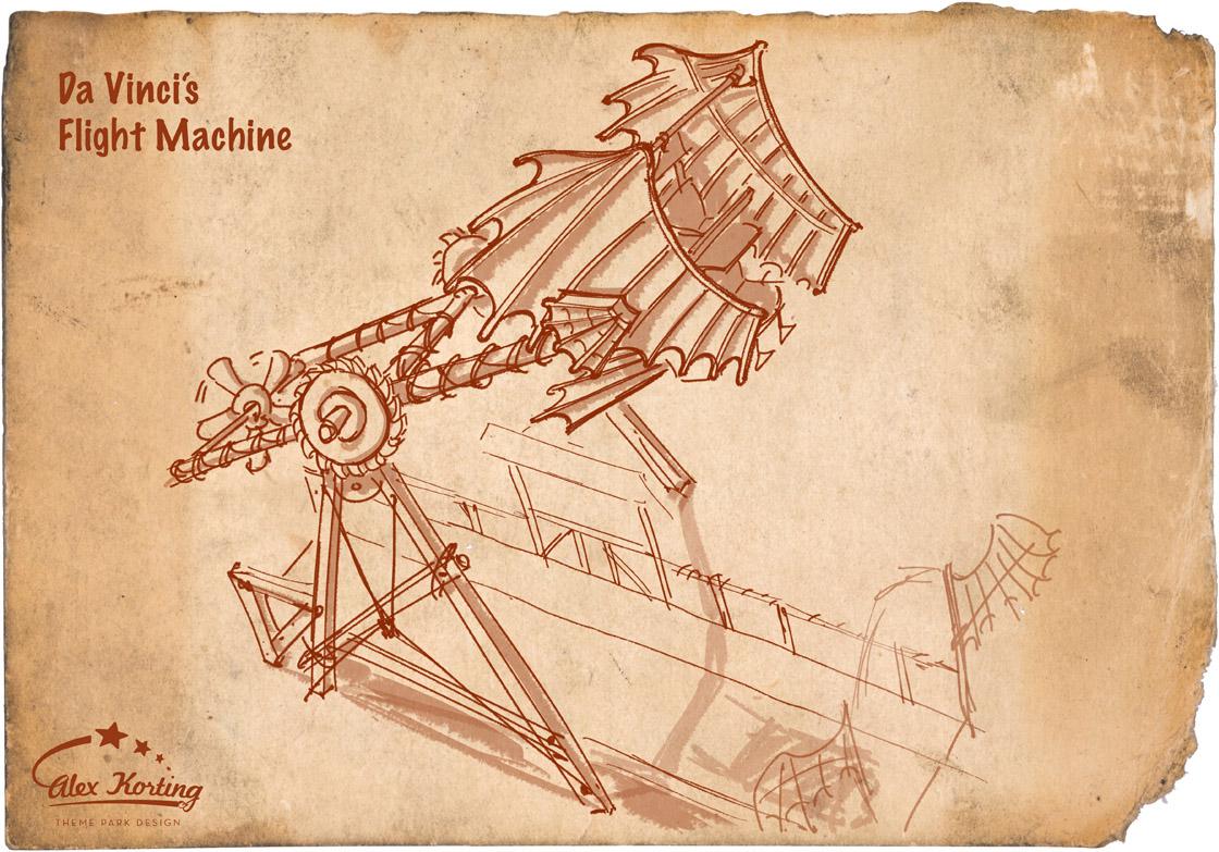 Flugmaschine Leonardo DaVincis
