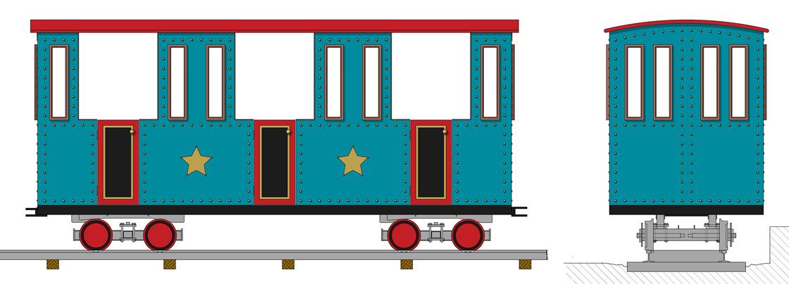 Zugwaggon Design Metallbau Emmeln