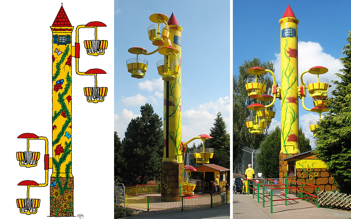 Metallbau Emmeln Flying Wheels im Schwaben Park