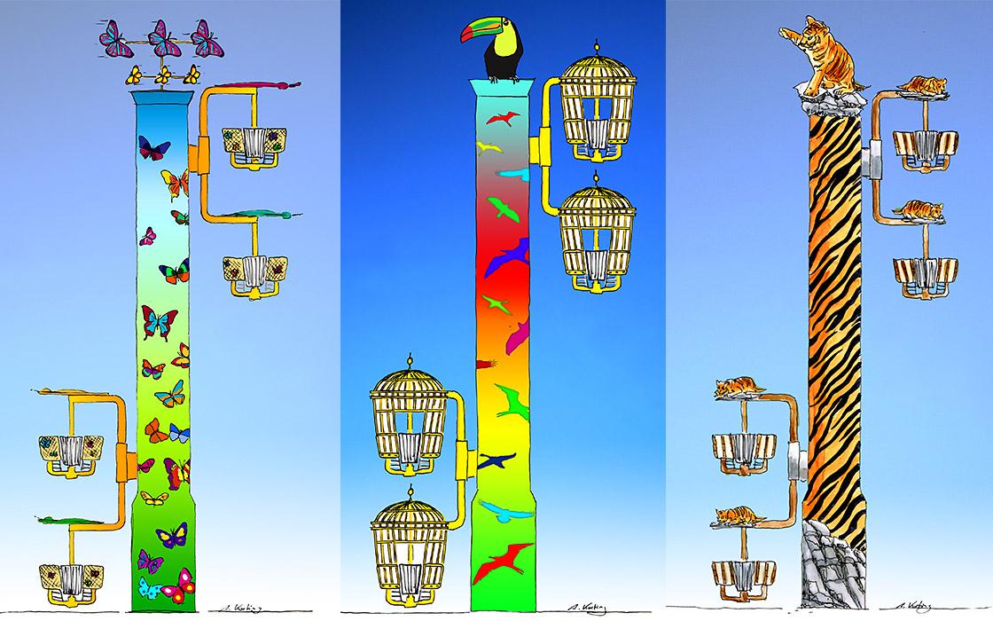 Tiertürme für einen Tierpark Metallbau Emmeln Flying Wheels