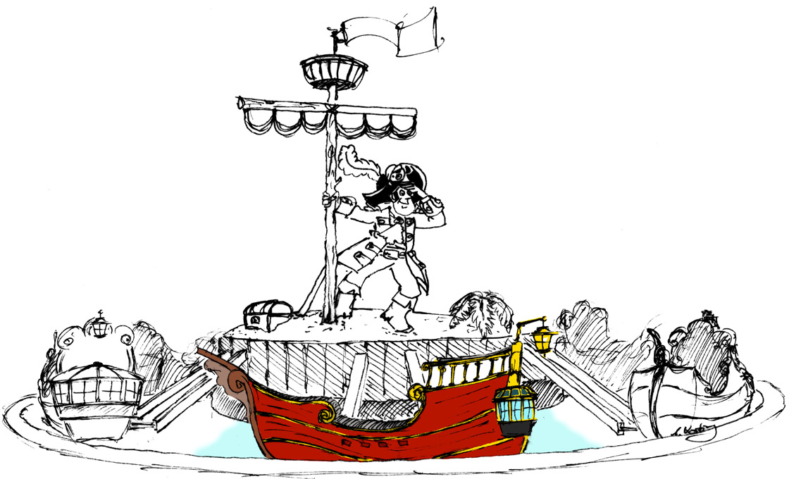 Piratenkarussell Metallbau Emmeln