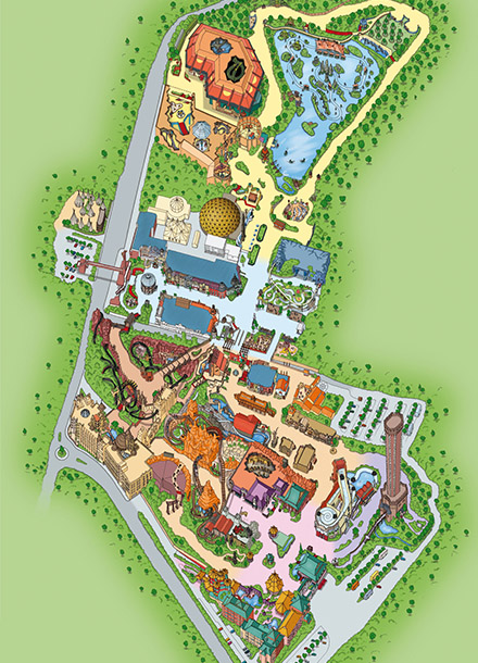 Phantasialand Parkplan ・ Park Map