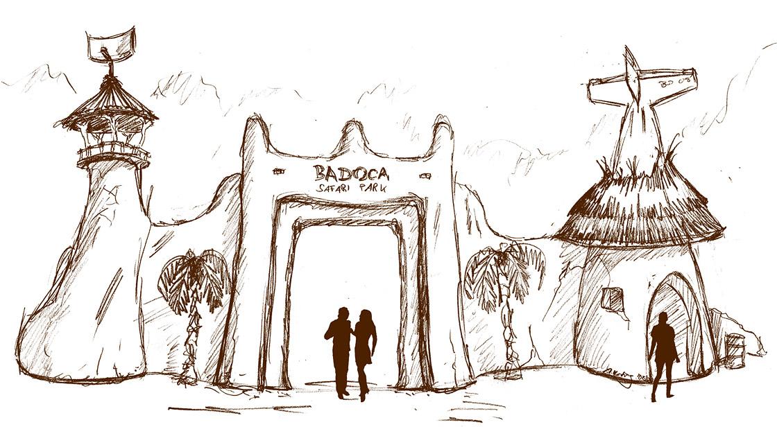 Badoca Safari Park Entrance Area
