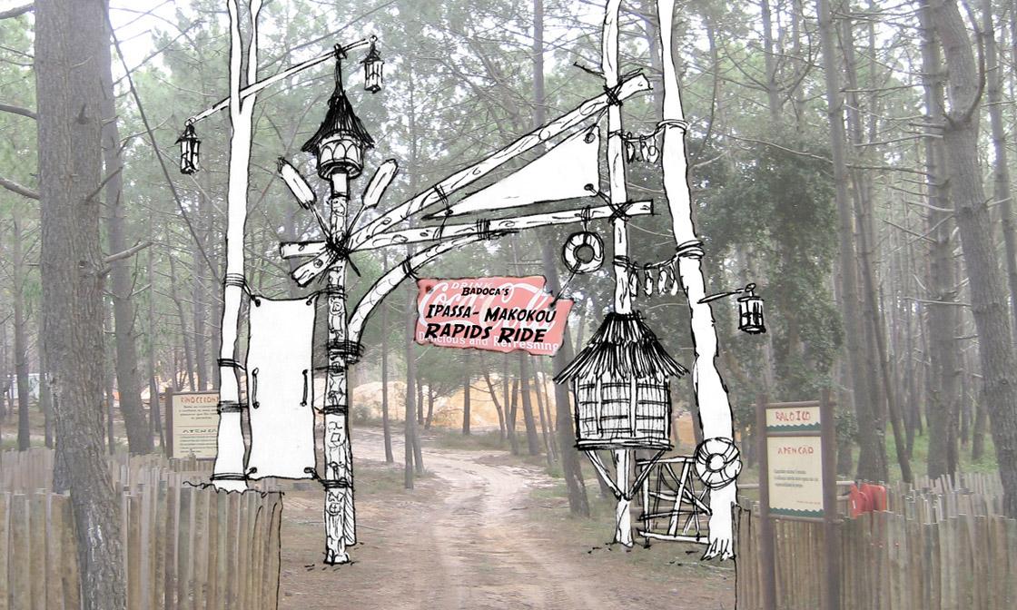Badoca Safari Park Area Gate