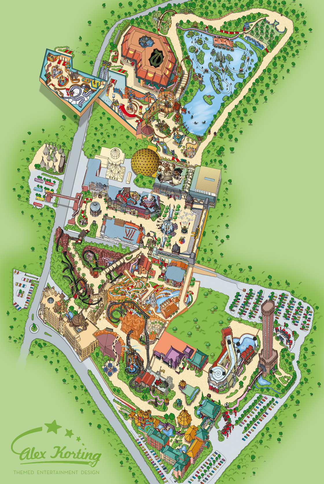 phantasialand karte Sommer / Summer 2014 – Alex Korting Themed Entertainment Design