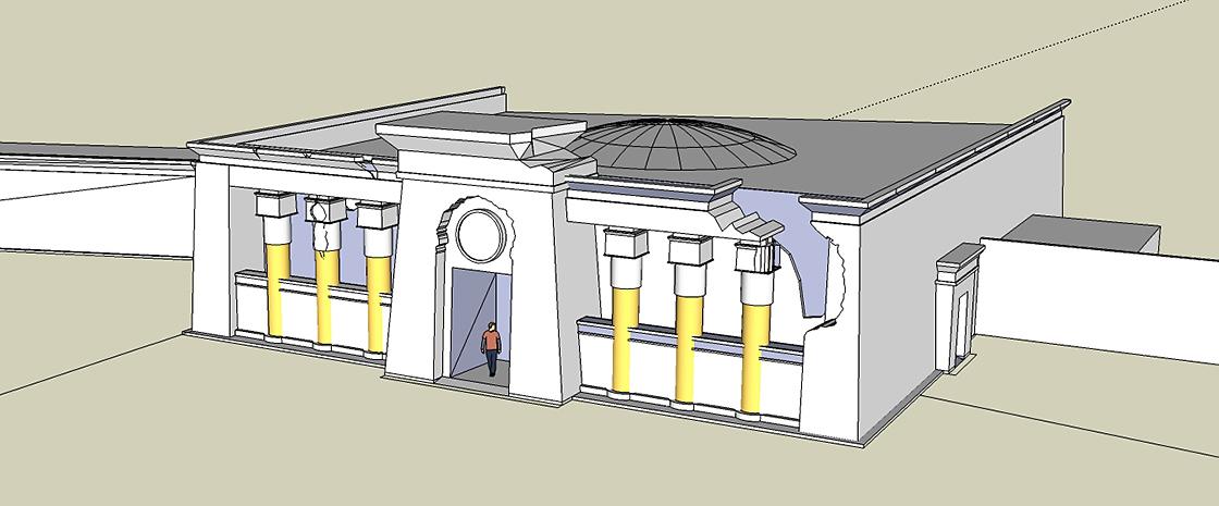 Design ägyptisch thematisiertes Restaurant