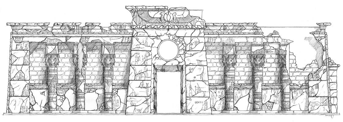 Design ägyptisch thematisiertes Restaurant - Fassade