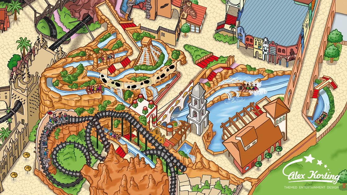 Parkplan Phantasialand 2014 Chiapas Coloration